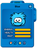 Blue Puffle Card