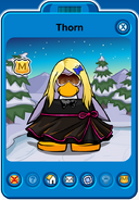 Thorn Player Card - Mid August 2018 - Club Penguin Rewritten