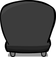 Black Plush Chair sprite 005