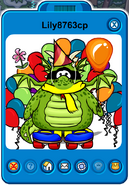 Lily8763cp Player Card - Late October 2019 - Club Penguin Rewritten