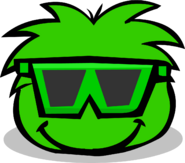 Green Puffle Sunglasses Parade
