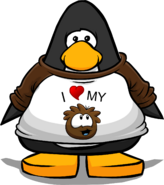 I Heart My Brown Puffle T-Shirt PC