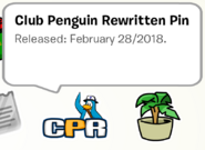 Club Penguin Rewritten Pin SB