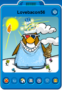 Lovebacon56 Player Card - Late April 2020 - Club Penguin Rewritten