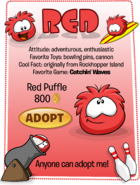 Red Puffle Adopt Catalog