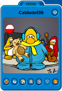 Catdude556 Player Card - Late July 2019 - Club Penguin Rewritten