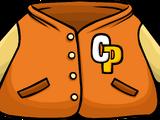 Orange Letterman Jacket