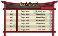 Card Jitsu Leaderbaord