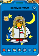 Candycorn900 Player Card - Early January 2020 - Club Penguin Rewritten