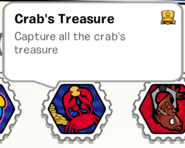 Crabs treasure stamp book