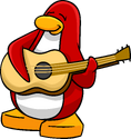 Acoustic Guitar Penguin