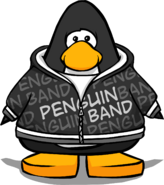 Black Penguin Band Hoodie PC