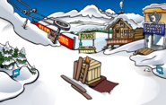 Medieval Party 2017 construction Ski Village