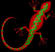 Wall Gecko sprite 005