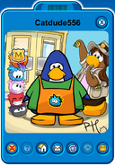 Catdude556 Player Card - Late February 2020 - Club Penguin Rewritten