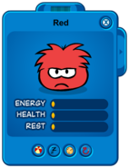 Low Red Puffle Card