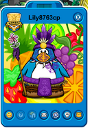Lily8763cp Player Card - Late June 2019 - Club Penguin Rewritten