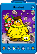 Rainbert Player Card - Late March 2019 - Club Penguin Rewritten