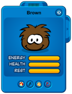 Brown Puffle Card