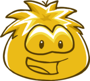 Gold Puffle Costume Trunk