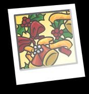 Holiday Wreath Background Icon