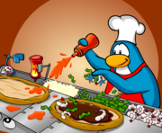 Pizzatron 3000 in newspaper - Club Penguin Rewritten