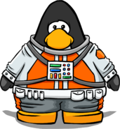 Orange Space Suit from a Player Card