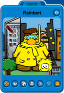 Rainbert Player Card - Late February 2019 - Club Penguin Rewritten