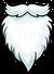 White Fuzzy Beard