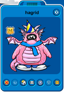 Hagrid Player Card - Early August 2019 - Club Penguin Rewritten