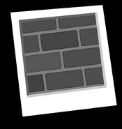 Black and White Brick Background Icon