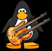 Orange Double Necked Guitar PC