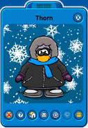 Thorn Player Card - Early November 2018 - Club Penguin Rewritten