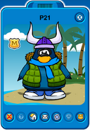Hagrid Player Card - Late February 2020 - Club Penguin Rewritten