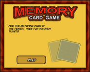 Memory Card Game Start Screen