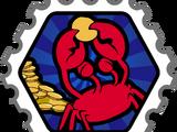 Crab's Treasure Stamp
