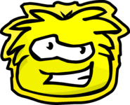 Yellow Puffle Pet Shop Sign