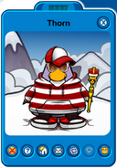 Thorn Player Card - Mid July 2019 - Club Penguin Rewritten