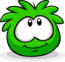 Green Puffle Smiling