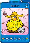 Rainbert Player Card - Late April 2019 - Club Penguin Rewritten