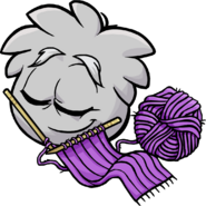 Grey Puffle Knitting