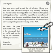 Letter from Aunt Arctic full award