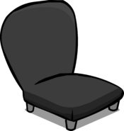 Black Plush Chair sprite 008