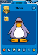 Thorn Player Card - Late January 2020 - Club Penguin Rewritten