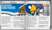 Earthquake Article - Issue 116 of Club Penguin Times