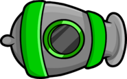 Puffle Launch Green Cannon
