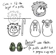 Grey Puffle Old Play Concept Art