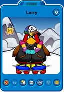 Larry Player Card - Mid August 2018 - Club Penguin Rewritten