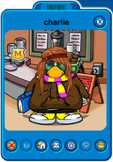Charlie Player Card - Early March 2020 - Club Penguin Rewritten