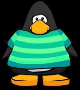 Aqua Striped T-Shirt Playercard